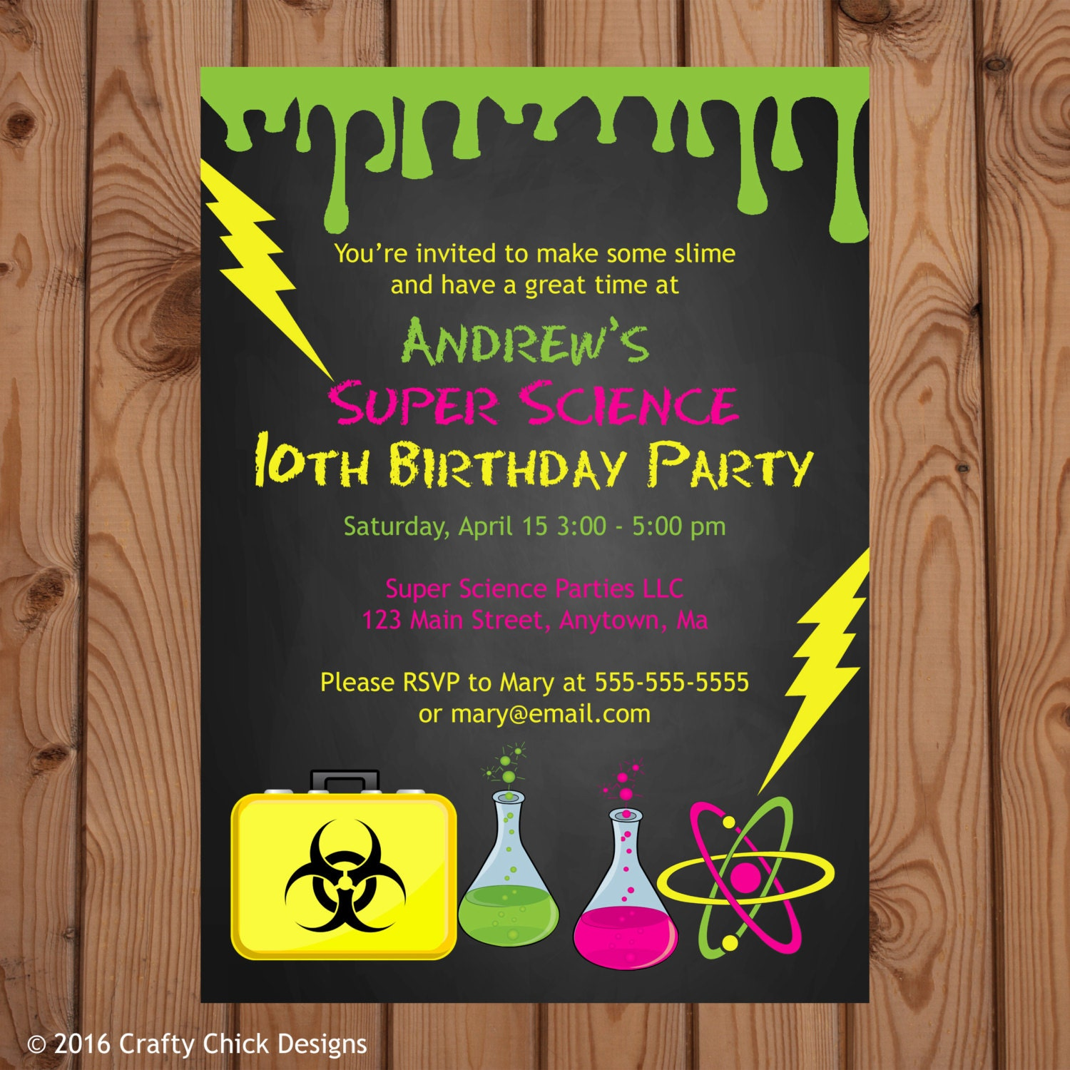 Science Invitation Science Party Invitation Science