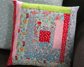 Log Cabin pillow cover