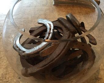 Vintage authentic horse shoes, set of 8