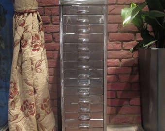 REDUCED. Reclaimed 15 drawer metal cabinet, vintage industrial, steampunk urban