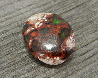 Mexican Opal Cabochon - De-Stash Stone Sale - 26mm x 13mm, Jewelry Making Supplies, Cab, Gem, Gemstone