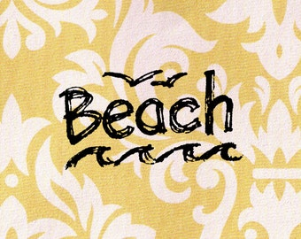Beach Stamp: Wood Mounted Rubber Stamp