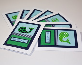 Handmade Whale Pun Greeting Cards