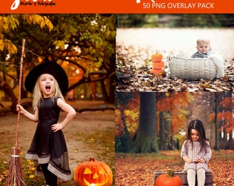 PUMPKIN PATCH Photoshop Overlays, halloween overlays, autumn overlay, pumpkin pngs, PNG files for photographers, Photoshop overlay