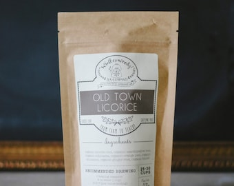 Old Town Licorice | ORGANIC  | Cold & Throat Coat Tea | Winterwoods Tea Company Loose Leaf Blend