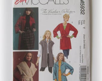 Easy McCall's M5932 Misses' Cardigan Pattern...Out of Print!