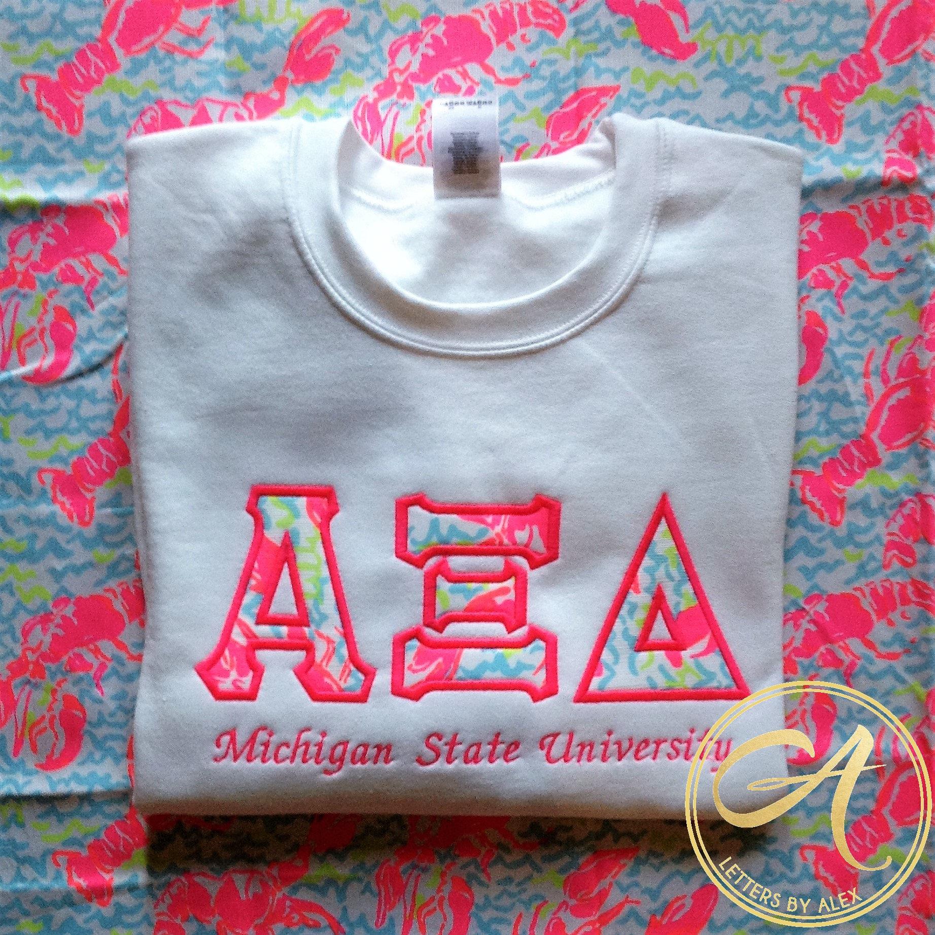 Customizable Lilly Pulitzer Crew Neck Sweatshirt New Neon