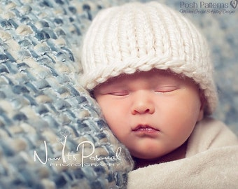 Knitting PATTERN - Knit Hat Pattern - Easy Knitting Pattern - Knitting Patterns for Men - Patterns for Babies - Includes 6 Sizes - PDF 227