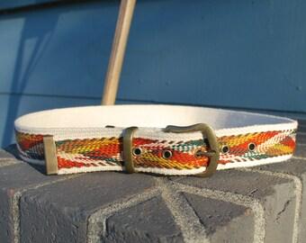 Vintage Women's Natural Woven Cotton Belt
