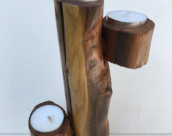 Cedar Driftwood Tea Light Holder