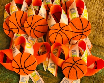 Basketball themed baby shower pins