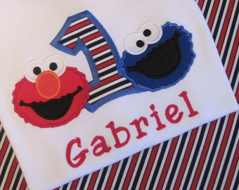 Cookie Monster and Elmo Birthday T-Shirt or Bodysuit