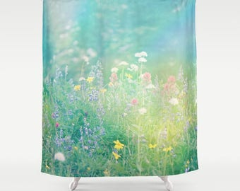 Shower Curtain -  Mountain Meadow, Wildflowers, Summertime,  Photography by RDelean Designs