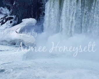 Frozen Niagara Falls (portrait)