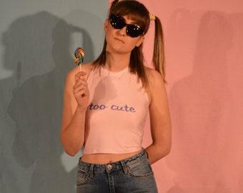 Quinn Morgendorffer 'too cute' halter crop