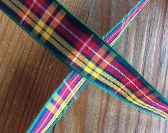 Tartan Ribbon. Buchanan tartan. 16mm width available. Price per metre