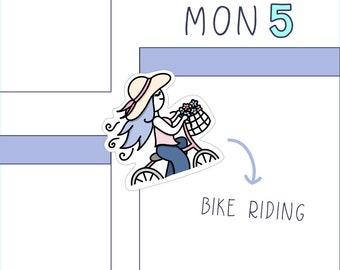 Bike Ride PLANNER STICKERS -  spring sticker sheet