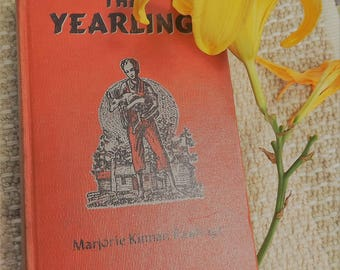 "The YEARLING by Marjorie Kinnan Rawlings 1938 First ""A"" edition vintage classic"