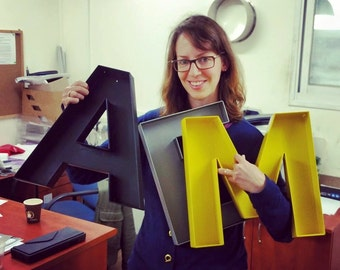 """wall hanging letters - """"I"""" sign letter - wall decor letters / metal letters / large 'I' letter"""