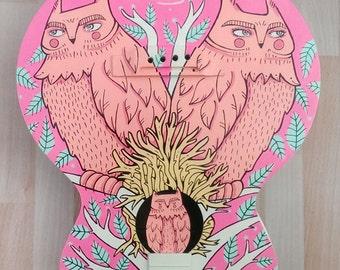 Owl Guitar by Rachel Corcoran