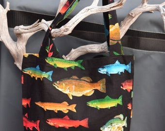 Rainbow Fish Market Bag