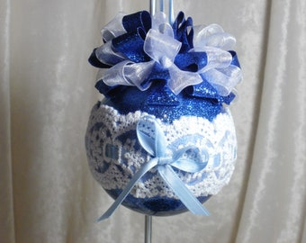 3 inch Blue Shatter Proof Christmas Ornament