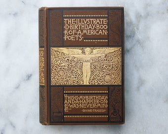 Antique Birthday Book of American Poets / Illustrated