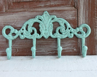 Decorative Coat Hooks, Cast Iron Wall Hooks, Entryway Coat Rack, Bathroom Towel Hooks, Towel Holder, Bathroom Wall Decor, Cottage Chic Hook