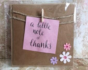 Handmade thank you card bunting