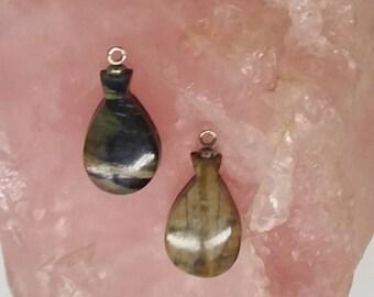 Picasso Marble Santa Fe Vase Cabochon Pair/ backed