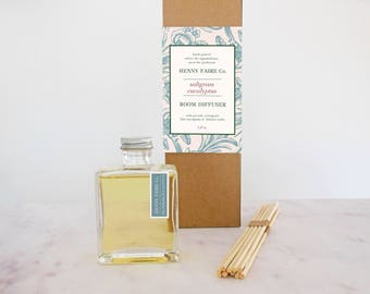 saltgrass eucalyptus reed diffuser | minimalist room diffuser with spa ocean fragrance | 5 oz bottle + 10 reeds