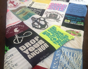 T--Shirt Memory Blanket Custom made for YOU