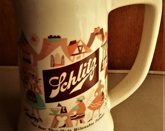 1960's Schiltz Beer Stien