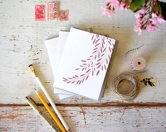 Branch Letterpress Notecard in Plum