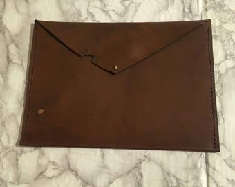 Beautiful A4 leather clutch