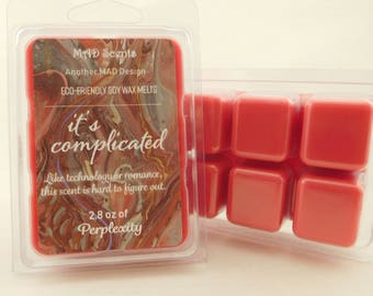Soy wax melts, highly scented, wax tarts-It's Complicated