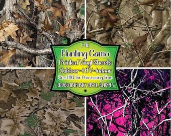Hunting Camo Vinyl/Printed Heat Transfer Vinyl/Patterned Vinyl/Printed 651 Vinyl/Printed 631 Vinyl/Printed Outdoor Vinyl/Printed HTV