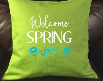 Spring Pillow Cover, Spring Home Decor, Spring Pillows, Spring Throw Pillows, Throw Pillow Covers, Decorative Pillow Covers