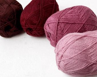 Pure wool yarn for knitting, crochet - 100%natural wool yarn