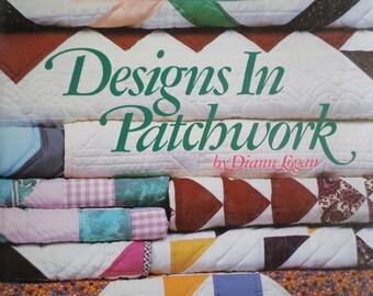 Hardcover patchwork quilting  book, machine piecing vintage quilt book