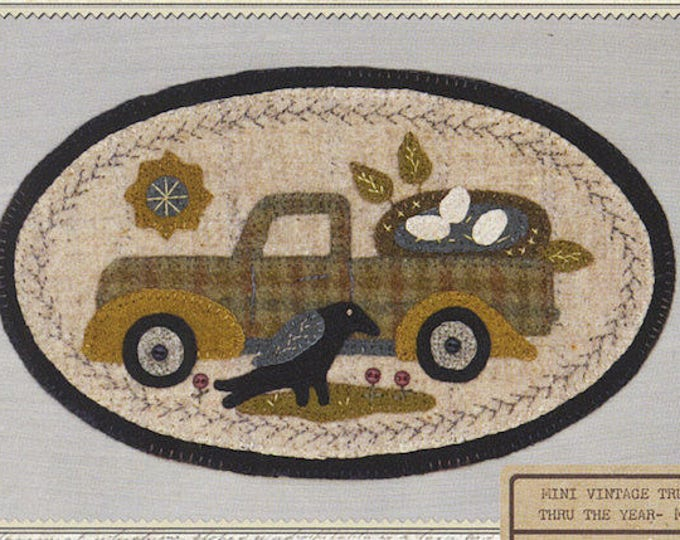 Pattern: Mini Vintage Truck Thru the Year - May Nest, by Buttermilk Basin