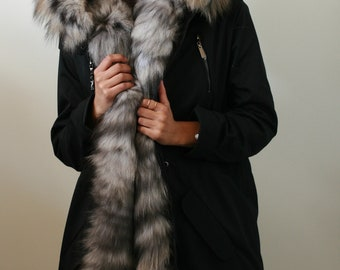 Two in One Parka Natural Fox Fur
