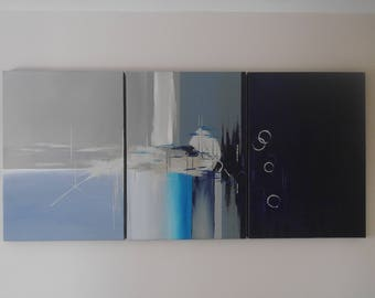 cool tones triptych