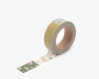 Camping map printed Korean washi tape  for scrapbooking, decorations (15mm x 10m)