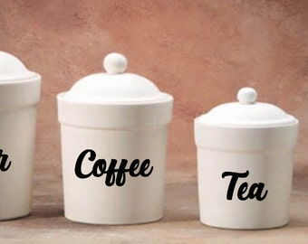 Kitchen Canister Labels- Pantry Labels- Custom Labels