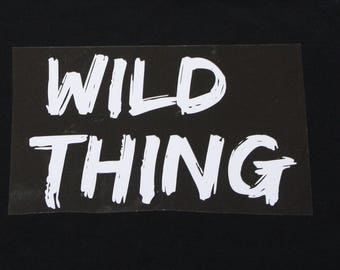 Diy wild one iron on etsy wild thing diy iron on decal transfer iron on do it yourself decal for solutioingenieria Image collections
