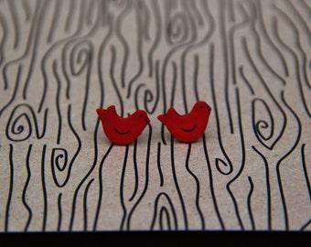 Red Bird Earrings!