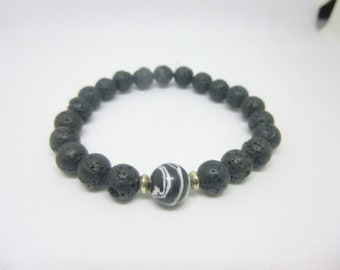 Lava rock bracelet/essential oil diffuser bracelet