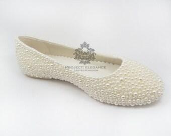 Alice - ragazze / pompe Childrens Pearl ballerine Flat