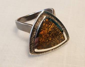 Sterling silver dinosaur bone ring